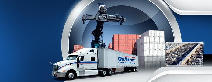 Quiktrax intermodal rail transport.